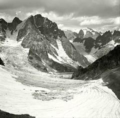 Ushba, Georgia (Yuriy Sanin) Tags: mountains georgia blackandwhite bw sanin snow ushba yuriy 6x6      2016 mamiya6