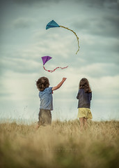 """""""The story of a brother and his big sister"""" (photobypawelp) Tags: creative children child colours kite girl greatphotographers boy beauty bray brayhead wicklow play ambientlight art artphotography photobypawelp portrait photography people pawelpentlinowski portaiture pretty polishphotographer ireland irishphotographer irishmoments naturallight nikon nikond800 moody magazine"""