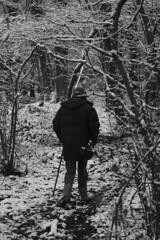 Elderly Man - Candid Portraiture (alfietrill) Tags: nikon d3200 dslr candid faceless snow england