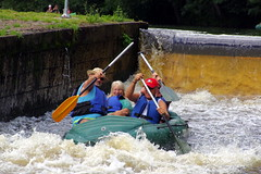 23.8.16 Vyssi Brod Weir 177 (donald judge) Tags: czech republic south bohemia vyssi brod weir boats rafts canoes river vltava