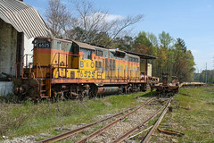 Stored and Rusted Chessie (weshendrix) Tags: hartwell railroad rr athens branch georgia ga train railfan emd gp9 bo chessie diesel engine locomotive outdoor high hood highhood