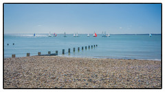 Solent Boats (Alan-S2011) Tags: boats coastline d7100 england europe hampshire hillhead nikon sea seascape sky solent uk water waterfront yachts yacht groynes coast coastal shore seaside pebbles beach