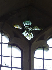 Grisaille glass in St Peter's Church, Dyrham, Glos (janetg48) Tags: gwuk grisaille window dyrham stpeterschurch glos