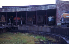 BN Mallet House at Superior, Wisconsin August 1970 (Twin Ports Rail History) Tags: twin ports rail history by jeff lemke time machine bn burlington northern railroad superior wisconsin roundhouse turntable 1970