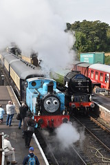 Thomas and Tornado (simmonsphotography) Tags: railway railroad locomotive engine train preserved preservation gala heritage steam uksteam a1 peppercorn pacific 60163 tornado nenevalley thomas tank