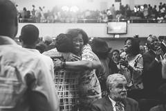 Spring Into Praise-59 (Atlanta Berean Church - photos.atlantaberean.com) Tags: greeting hug man smile welcome woman