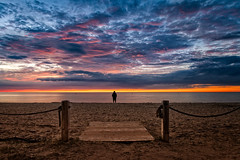 for your eyes only (JimfromCanada) Tags: beach alone lonely sunset beautiful sand evening sun cloud colour color walkway summer portelgin saugeenshores ontario canada bluehour quiet peaceful outdoor water lake waterfront wow