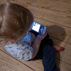 We just invented a new game: start @youtube with #chromecast and let the 15month old choose #imfeelinglucky #youtube  (NikolaiBockholt) Tags: we just invented new game start youtube with chromecast let 15month old choose imfeelinglucky