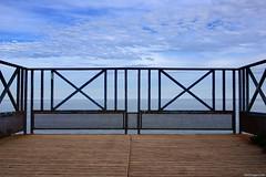 Fence (Erik Schepers) Tags: patagonia rio negro argentina sky landscape blue road horizon clouds endless fence viedma view sea simple minimalistic symmetric symmetry