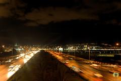 Alger la blanche rsiste  la nuit noire (Ath Salem) Tags: alger algiers algrie algeria afrique du nord baie nuit night lights lumires highway autoroute coucher de soleil sunset fontaine        mohammadia