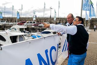 Recepción viernes SM Juan Carlos I RCN de Sanxenxo