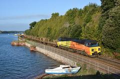 70807 (Teignstu) Tags: teignmouth devon railway colas class70 70807 riverteign boat water