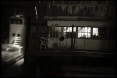 Late at night at the docks (efo) Tags: california bw night dock marine crockett rodinal1100 kodakretinaiia fuji4791 digitalseparationfilm