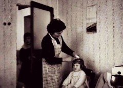 Grandmother hairdresser (Scossadream) Tags: blackandwhite dog love cane eva shot grandmother crying mother bn grandparents mamma bologna hairdresser modena antico amore nonno madre edit biancoenero gabriella nonna bimba capelli bambina nonni piange cremonini didimo parrucchiera lucaguizzardi
