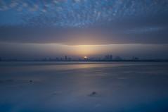 Come with us (heshaaam) Tags: longexposure light sunset sea sky seascape clouds bahrain manama muharraq