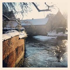 Begijnhof - Leuven (BodyandParts lebs) Tags: winter sun snow reflection monument leuven river landscape begijnhof dyle