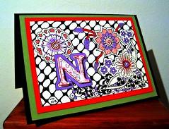 A card for my mum (Poppie_60) Tags: pen drawings doodle tangle zentangle zendoodle ziazentangleinspiredart