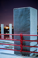 Garage (Dan Squires) Tags: nyc longexposure night garage rooseveltisland npy fujixpro1