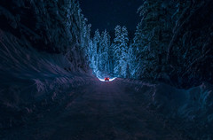 Shining in the tender darkness (inhiu) Tags: winter light sky mountain snow cold nature car night dark landscape star nikon long exposure darkness low bulgaria rila shining tender d800 inhiu
