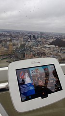 Samsung Galaxy Tab 10.1 on London Eye