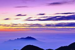 Purple sunset (Singer ) Tags: sunset sky mist fog clouds canon purple taiwan singer  taipei      seaofclouds                 canon550d  singer186