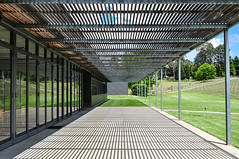 Adelaide Hills (explored) (andyscho2004) Tags: light shadow glass lines architecture nikon steel perspective sunny australia symmetry adelaide sa verandah southaustralia rectangles curtainwall d90
