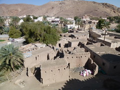View of abandoned mud brick village from Bait Al Marah castle (John Steedman) Tags: castle oman muscat  sultanateofoman       baitalmarah