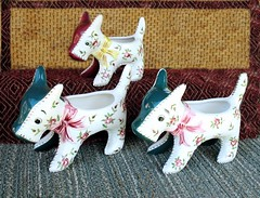 Scotty Planters (M.P.N.texan) Tags: dog dogs vintage ceramics planters collection pottery collectible planter scotty collectibles collecting madeinjapan lefton
