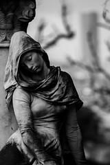 Silence. (stars`bread) Tags: blackandwhite paris cemetery statue noiretblanc branches statua biancoenero rami parigi cimitero prelachaise scultura tourmontparnasse cimitire canoneos1000d