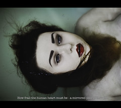 Scene 2 (Megan Wilson Photography) Tags: blue red portrait film water death eyes quote scene lips sylvia plath meganwilsonphotography