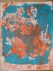 monoprint 1 bis (Chantal 61) Tags: stencils monoprint acrylicpaint pébéo gélatine peintureacrylique