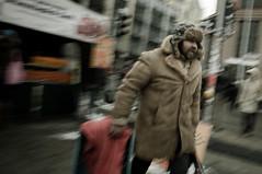 Homeless / Bezdomovec (Jan Prax) Tags: street travel winter people man motion streets berlin germany deutschland person town nikon europa europe coat homeless capital hauptstadt visit move tourist cap streetphoto february dslr visiting panning berliner deutsch deutscher depressive furcap d90 fromhand