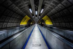Waterloo Travelator (LeePellingPhotography.co.uk) Tags: city fiction london underground tube science waterloo metalic travelator