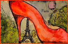 Paris under the heel (lozhka13) Tags: paris france color tower art colors watercolor europe colorfull eiffeltower hell eiffel toureiffel eiffeltour
