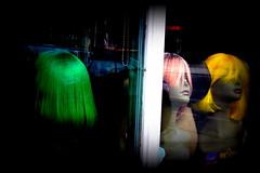 Hair! (Charlie Magritte) Tags: hair wig showcase vitrine perruque cheveux