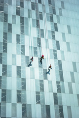 Window Washers (Maria Sciandra) Tags: street skyscraper mexico mexicocity officebuilding daredevils mtsciandra sonyrx100 mariasciandraphotography