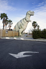 Grrrrr says Dino (susan catherine) Tags: california palms arrow cabazon x100 shootingaphotographer mostphotographeddinosaursinca