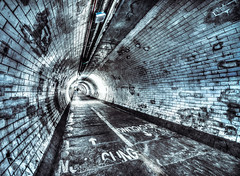 The Other Side Of The Path (Sean Batten) Tags: city uk england urban london mono nikon unitedkingdom greenwich tunnel d800 nocycling greenwichfoottunnel tonned 1424