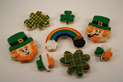 St. Patrick's Day Cookies (Nadia Bakes) Tags: irish cookies gold luck clover shamrock stpatricksday leprechaun potofgold potogold