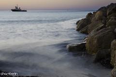 Tug (ChamberlinPhotography) Tags: ocean sunset wet water misty port sunrise landscape photography lights rocks jetty south australia adelaide tugboat hughes wallaroo moonta