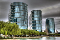 The Great Oracle (Jill Clardy) Tags: blue glass clouds buildings reflections corporate reflecting oracle pond day skies technology cloudy lagoon corporation software cylinders hdr futuristic day78 cylindrical photomatix tonemapped day78365 3652013 365the2013edition 19mar13 4b4a1116 4b4a1117 4b4a1118 4b4a1114 4b4a1115