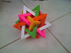 My first FIT (Rubikorigami) Tags: 30 tom paper origami 5 five easy hull tetrahedron fit units intersecting tetrahedra rubikorigami