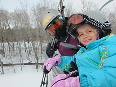 Violet & Mommy On The Ramshead Lift (Joe Shlabotnik) Tags: skiing lift violet sue killington chairlift faved proudparents 2013 march2013