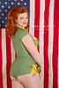 Photo by Lone Star Pin-up (Lone Star Pin-up) Tags: blue red woman white sexy green classic girl vintage army fifties flag retro redhead american 1950s era rockabilly 50s vargas pinup 1950 pinups elvgren