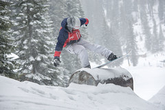 Old School Half Pipe Jam Event (Kevin J Salisbury) Tags: trees winter sports snowboarding extremesports jibbing sportsphotography wintersports nikon70200mmf28vr nikond700
