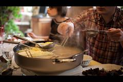 076/365 - Around a Hot Pot (Enthuan) Tags: family portrait people food man hot face canon eos cut sigma pot meal serie antoine 30mm 500d robiez