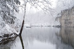 Spring snow at the Quarry