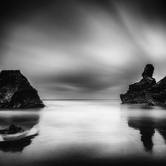 Reflections (Martin Mattocks (mjm383)) Tags: longexposure sky seascape reflection texture clouds canon sand rocks cornwall horizon coastline bedruthansteps leefilters canoneos5dmarkii bigstopper distagon2128ze cornwalllandscapes mjm383 martinmattocksphotography