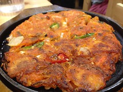 Kimchi Pancake (Rachel Toh) Tags: food sticky egg spicy pancake koreanfood starch uploaded:by=flickrmobile flickriosapp:filter=nofilter