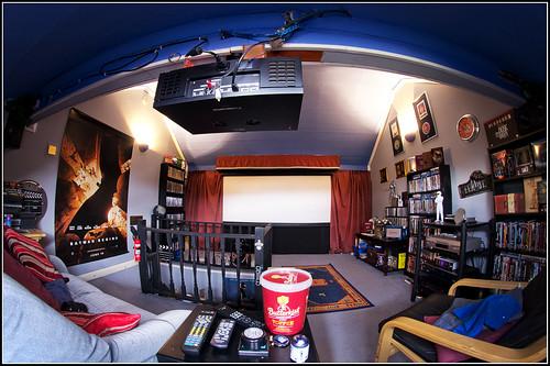 cinema loft dvd projector sigma screen fisheye panasonic collection posters wakefield letterbox 8mm speakers hometheatre ratio samyan blurays